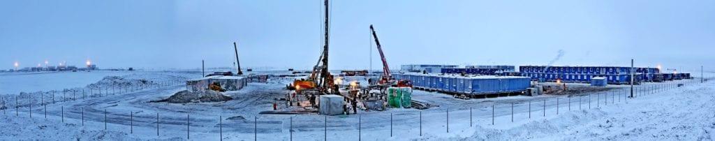 Строительство жилого городка на Ямале