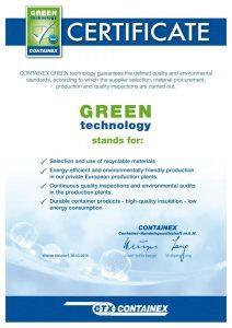 Сетификат Green Технологии