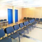 Интерьер модульного здания, зал для собраний
