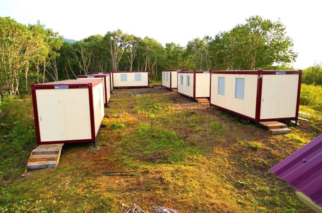 Доставка блок модулей в лесной массив